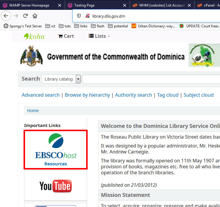 EBSCOhost Resources Tutorial Image