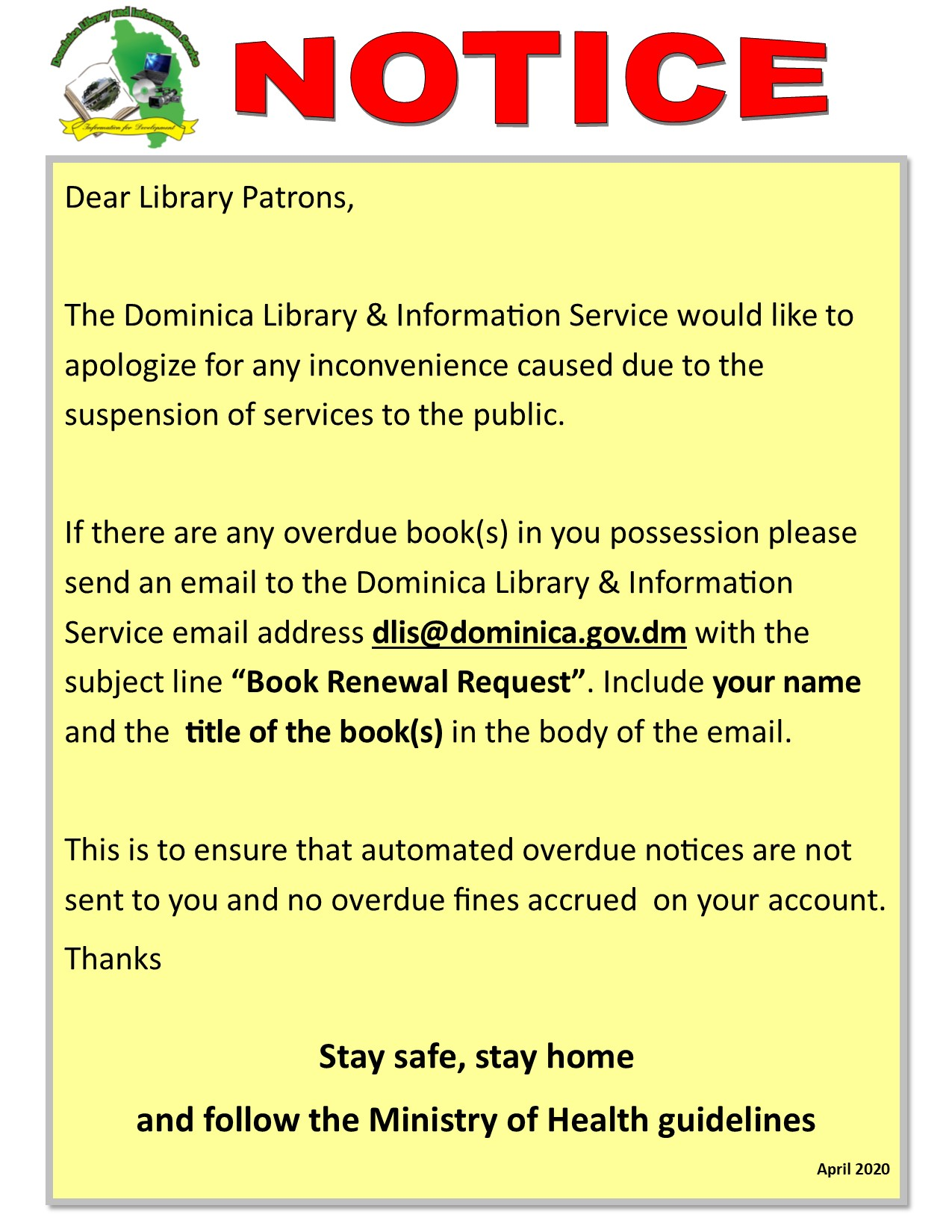 Library Book Renewal Notice